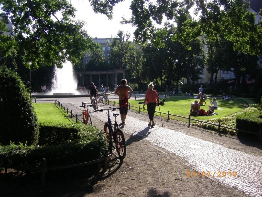 Victoria-Louise-Platz sommer 2013. Foto: Morten Andersen