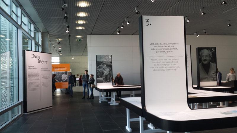 Topographie des Terrors. Udstillingen Hans Bayer. Kriegsberichter im 2. Welkrieg. Foto: Kirsten Andersen