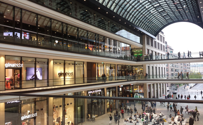 Mall of Berlin. Foto: Kirsten Andersen