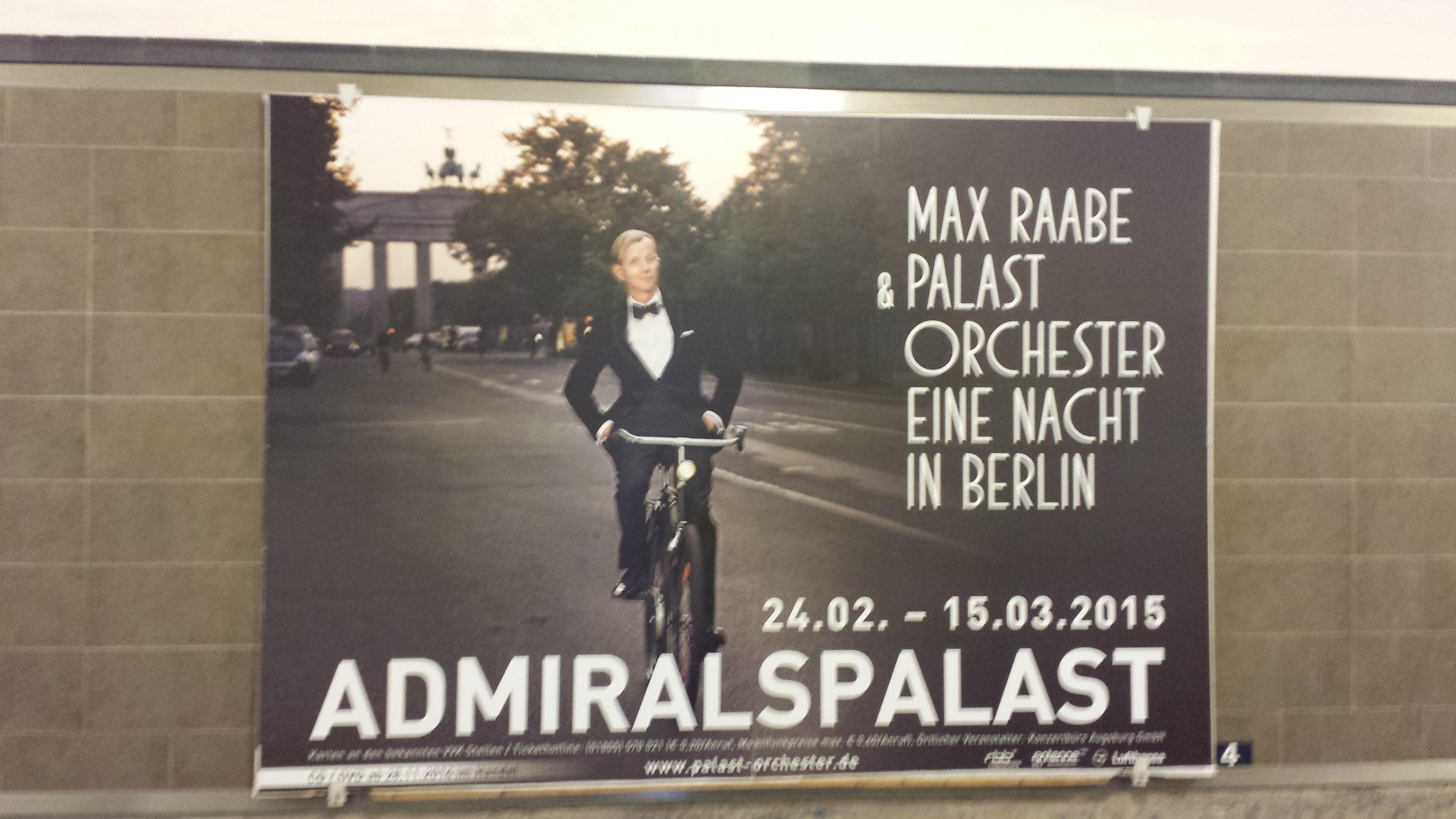 Reklame i U-Bahn 2014. Foto: Kirsten Andersen